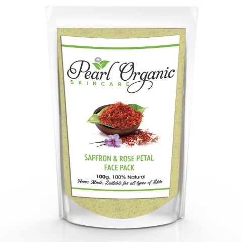 Pearl Organic Saffron Rose Petal Face Pack